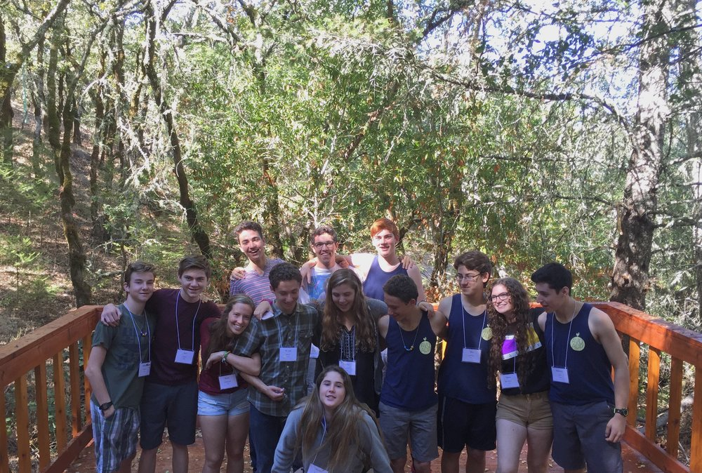 Newman counselors-in-training, including BHS seniors Ellie Feder and Elan Zankman, pose for a photo at camp this past summer.
