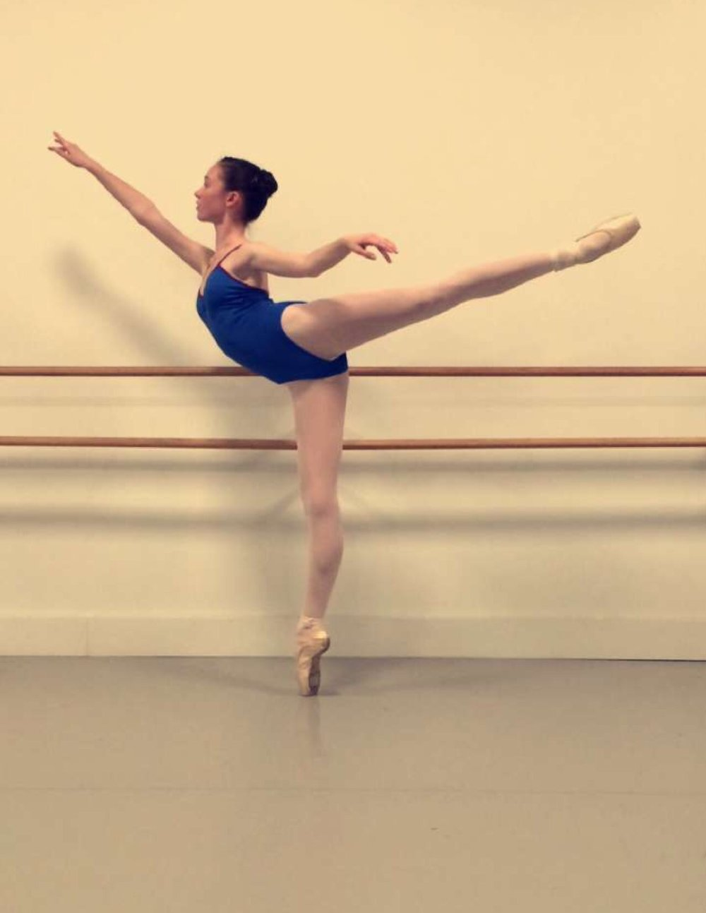 Birmingham describes pointe as being one of the hardest parts of ballet.
