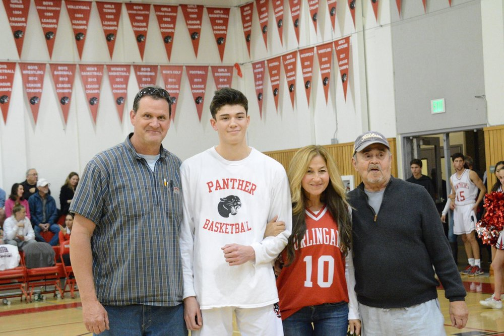 Senior Cal Spurlock poses with his family.