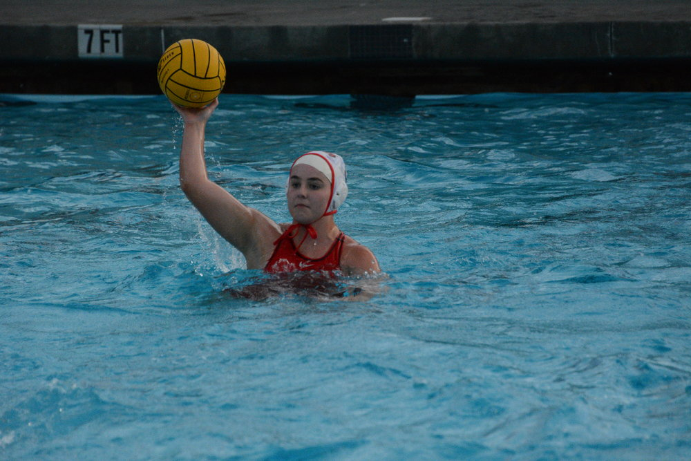 Senior Ava Jordan grasps the ball in the final seconds of the game.