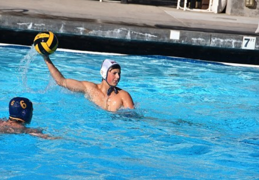Senior Fenn Jones passes the ball during the Panthers' senior night at Hillsdale High School.