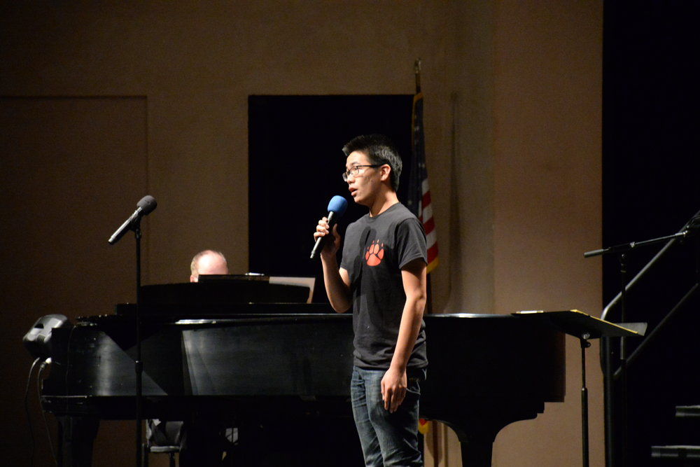 BHS Senior Ryan Cheng sings Stars from Les Misérables for his solo.