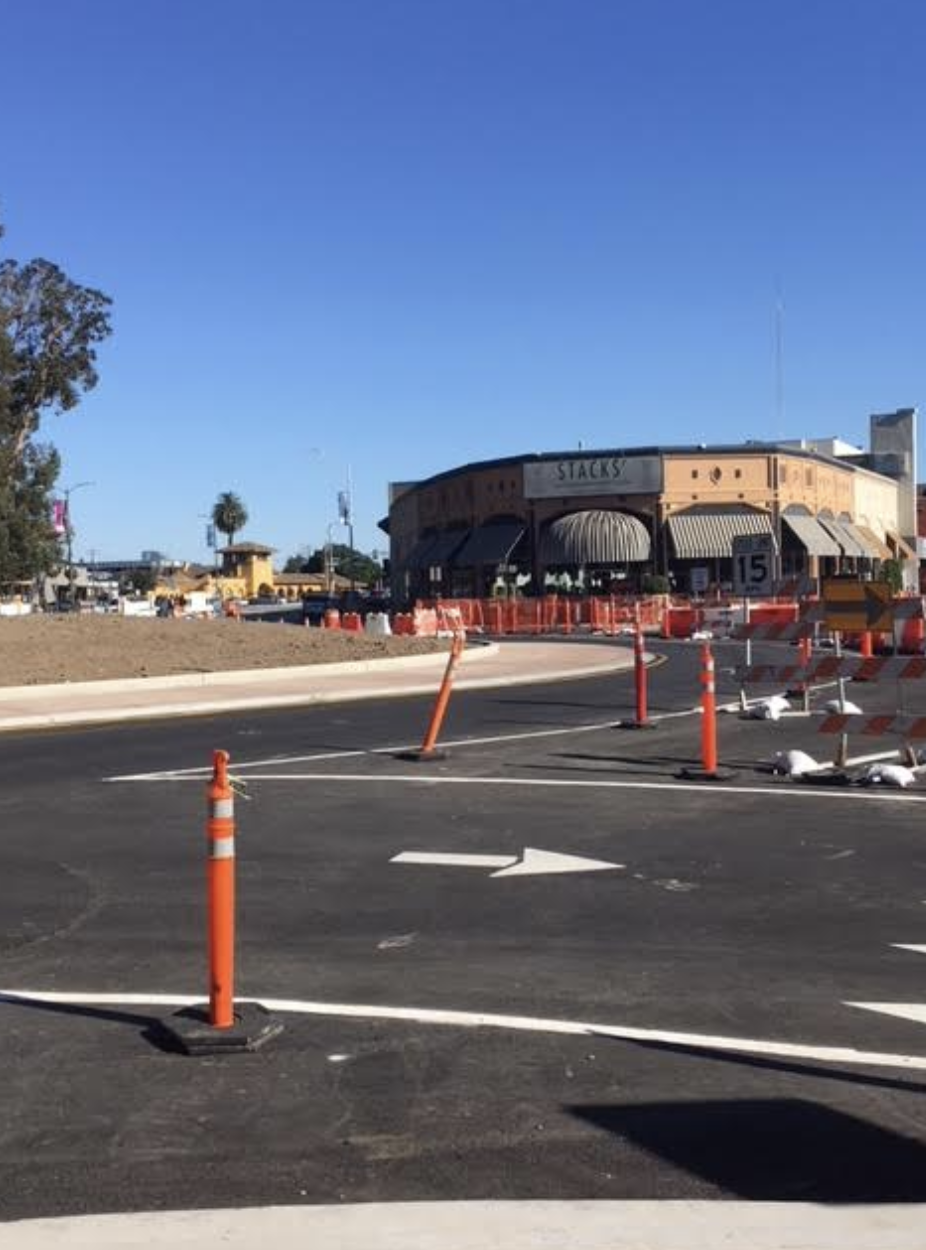 Construction on California Drive near Burlingame Avenue is continuing at a steady pace. The project is projected to be finished by January.