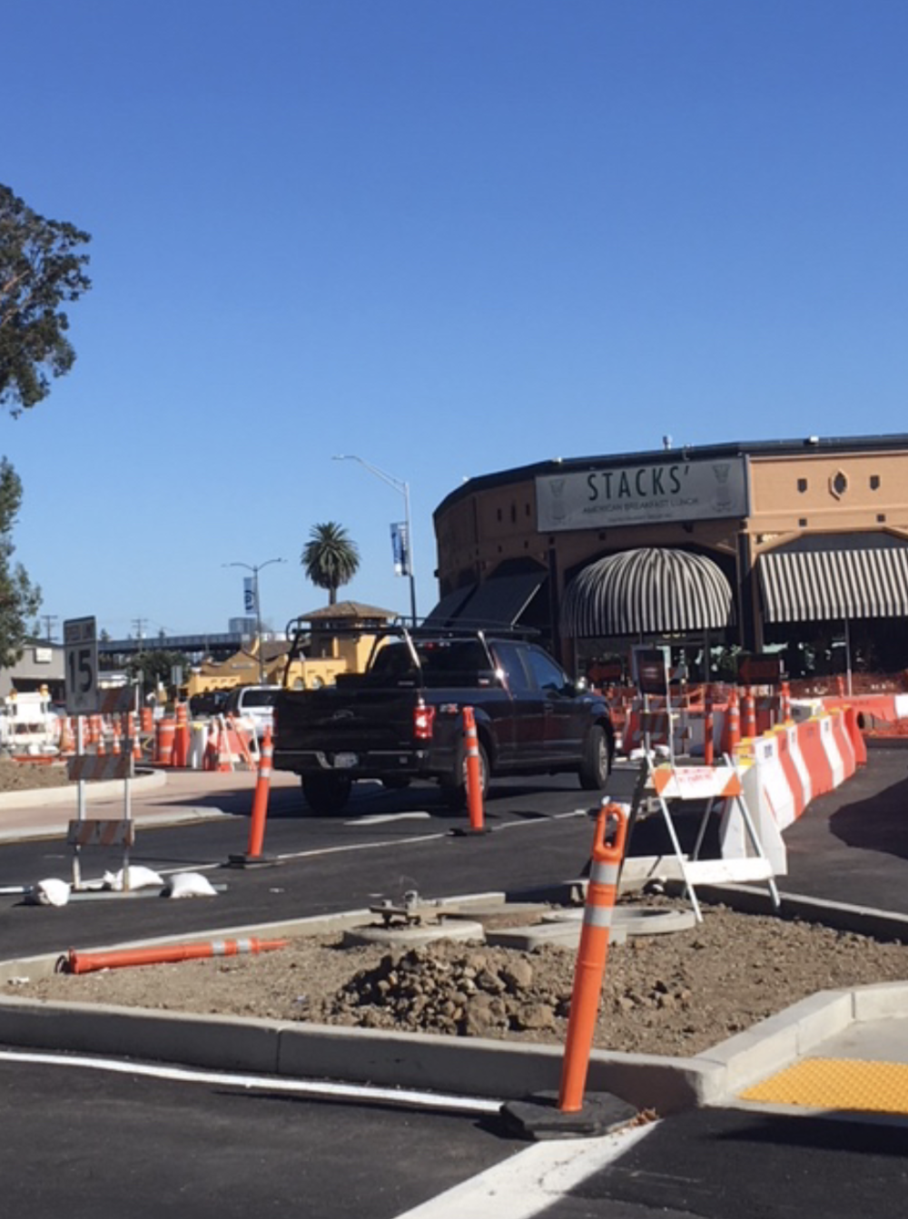 Traffic is now free to move through the project on the southbound lanes of California Drive.