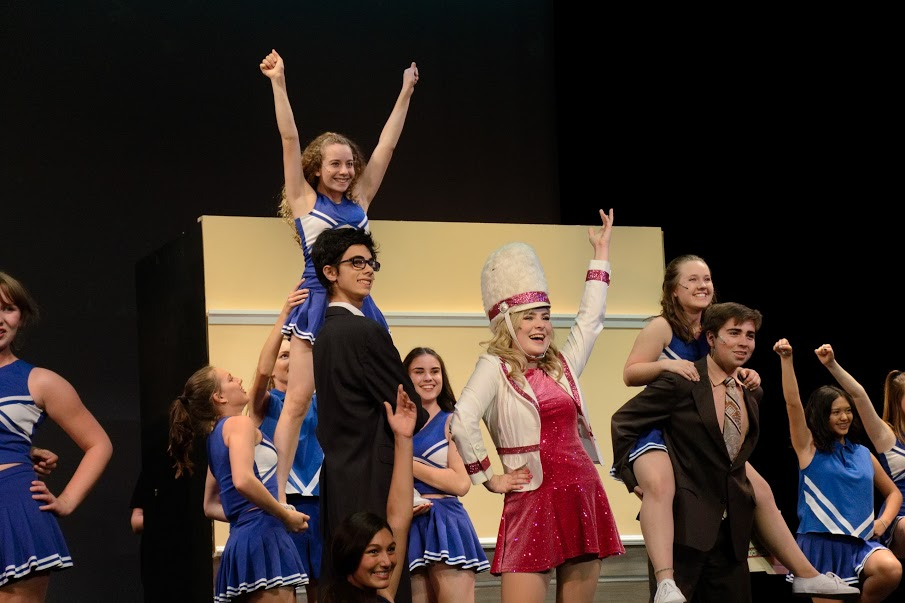 "The cast of ""Legally Blonde performing ""What You Want""."