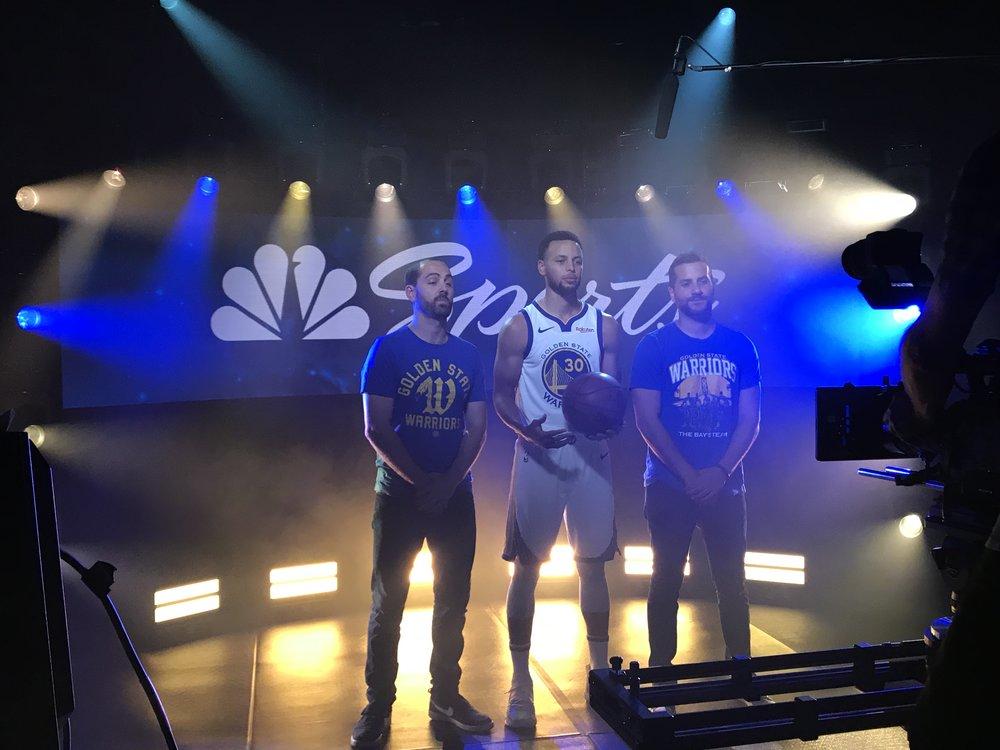 BHS grads Drew Schiller ('05) (left) and Grant Liffman ('05) enter their second season entertaining fans as the Warriors pursue their consecutive third title.
