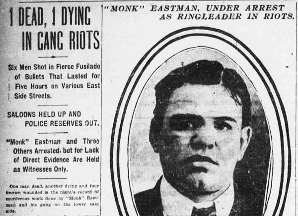 Monk Eastman Newspaper Clipping