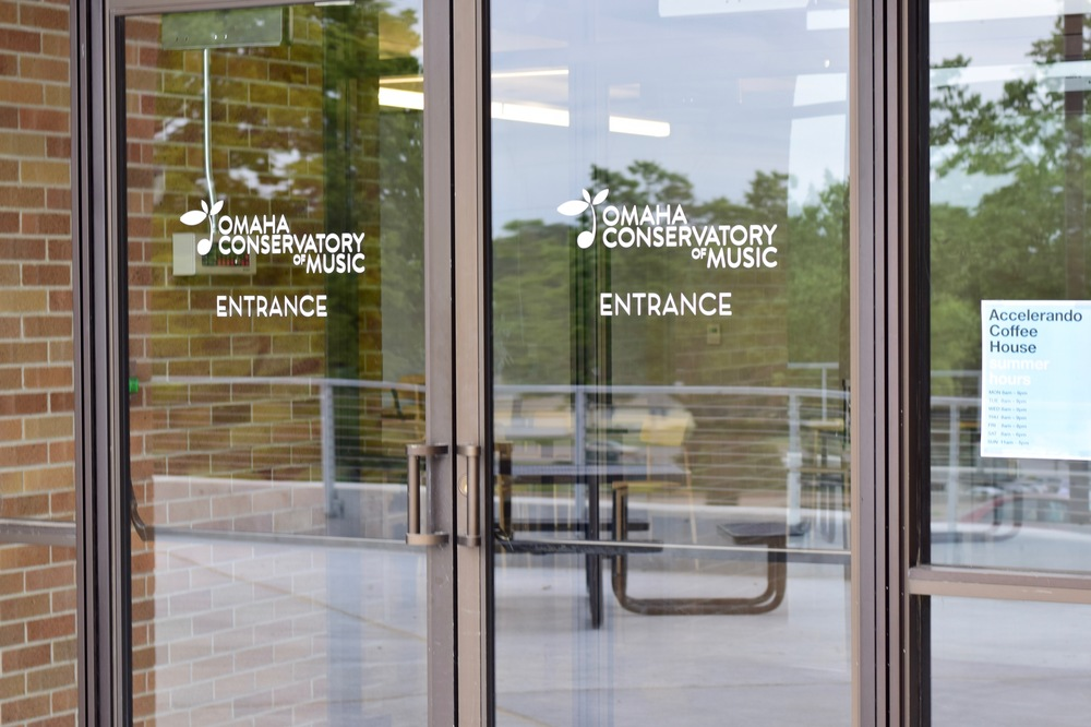 Omaha Conservatory of Music and Accelerando Coffe House entrance