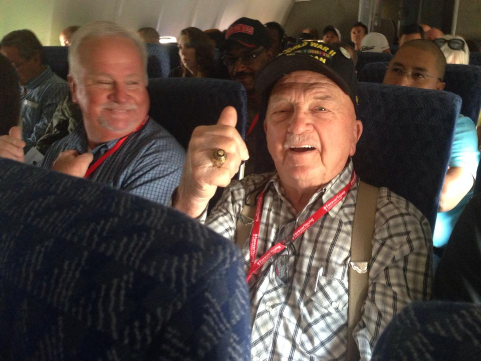 Battle of the Bulge Veteran, Andy Dunavant, pleased with American Airlines