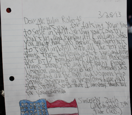 A Letter to a Veteran from a 5th Grader — Forever Young Senior
