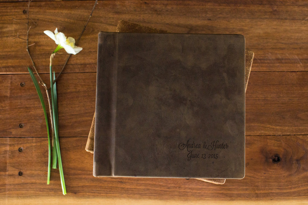 leather bound album ashah photography