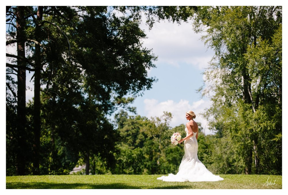 The Bride in Profile  - Macon Wedding Photographer