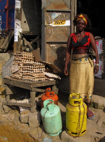 LPG Vendor, cameroon (photo credit: Nigel Bruce)