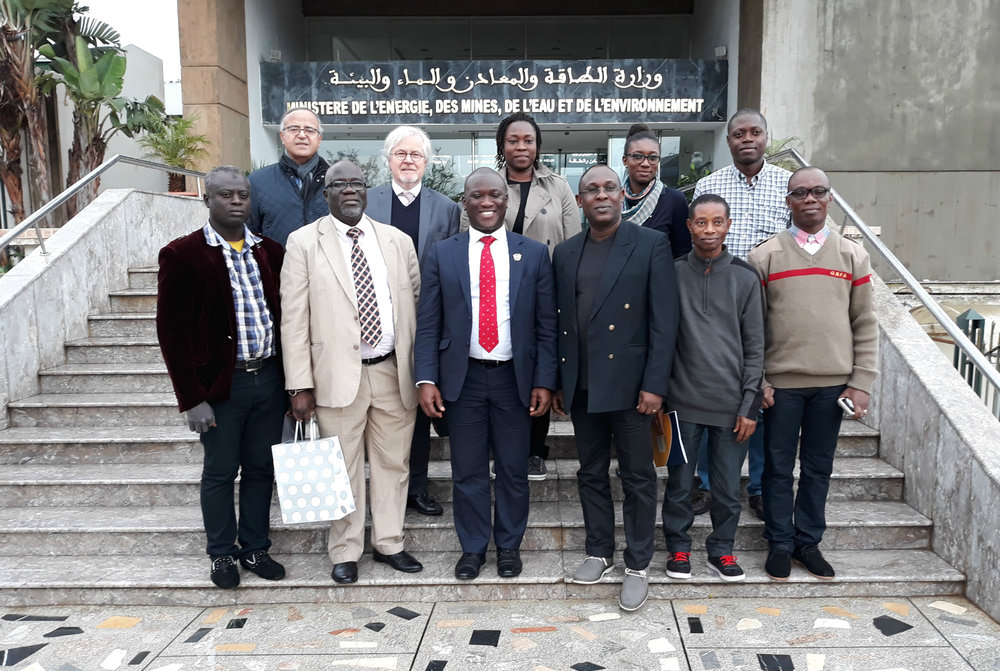 Mr. Renzo Bee, Chair, Policy, Regulatory & Development Advisory Group, leads a government delegation from Ghana to see state of the art LPG filling plants in Morocco in December, 2017.