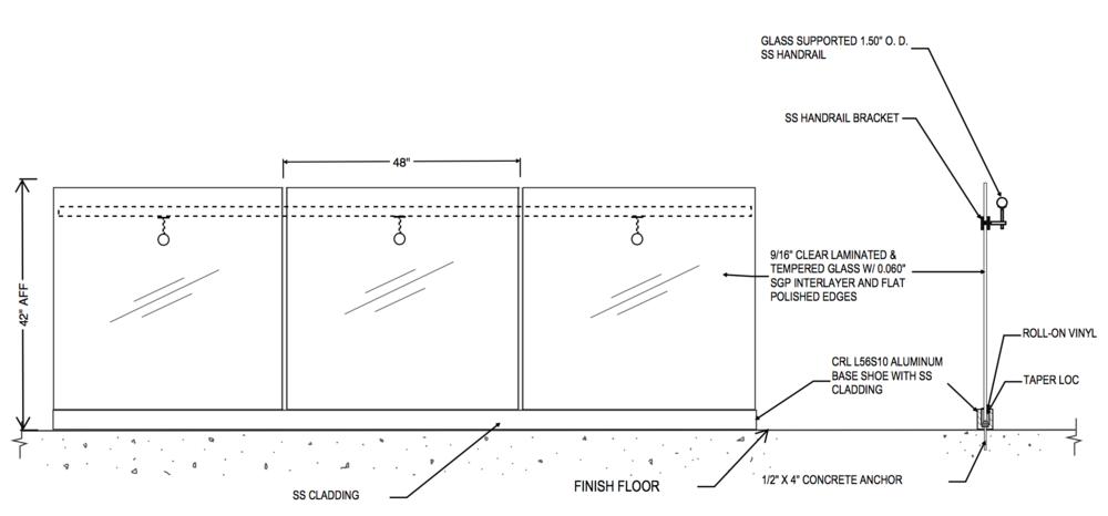 Frameless Glass Base Shoe Railings Acs Railings