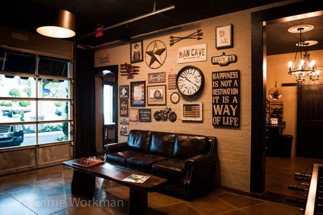 Established in 2017 - Established in 2017 Bourbon and Blades is here to address the unanswered need for a masculine location where men can feel comfortable and receive an outstanding service in an upscale atmosphere. We realize how important it is for men to look and feel there absolute best at work or out on the town. Arrive early to your appointment at Bourbon and Blades and enjoy a complimentary hot or cold beverage while you relax in our plush lounge and catch up on today's news on one of our flat screen televisions. Whether you are in on business or pleasure Bourbon and Blades is the place to just get away from it all.