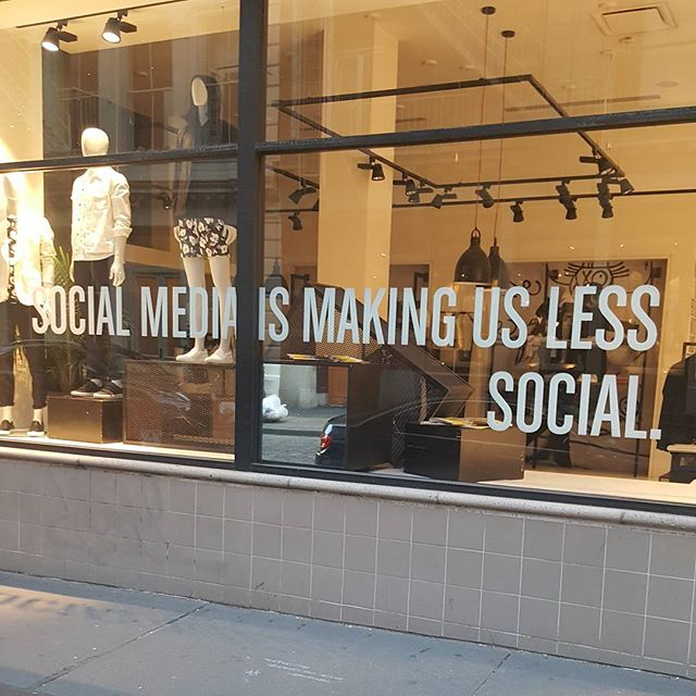 Do you Agree? Morning walk through Soho... #nycweekend#soho#storewindow#bold#phrase#whatdoyouthink#social#socialmedia#people