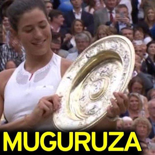 Bravo Garbine Muguruza!! Bravo Venezuela !! Wimbledon 2017!! #wimbledon#wimbledon2017#talentovenezuelano