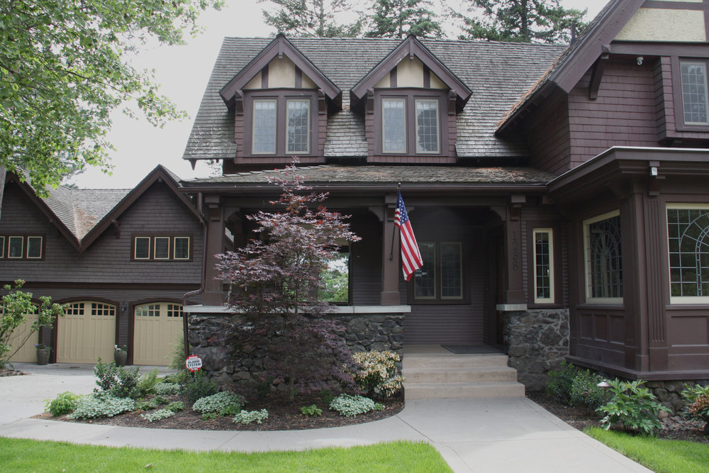 spokane craftsman entry landscape