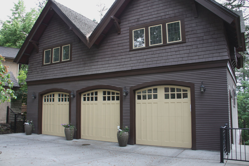 detached spokane garage with potted plants