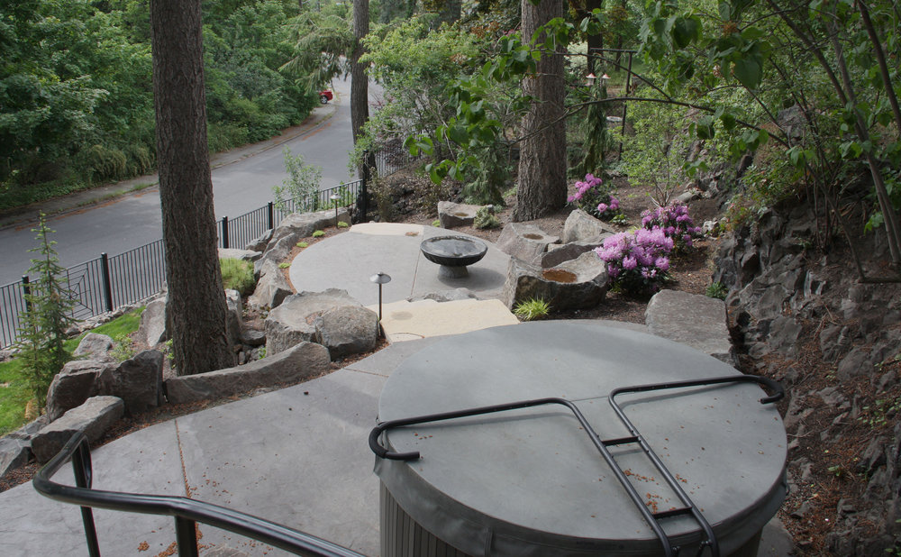 spokane hot tub landscaping