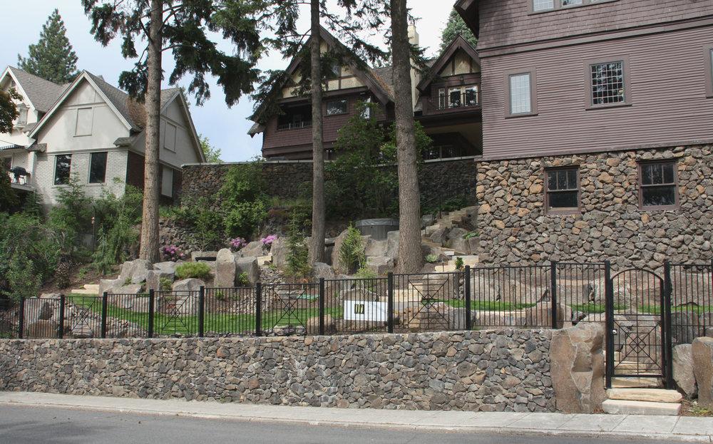 spokane boulder wall landscaping