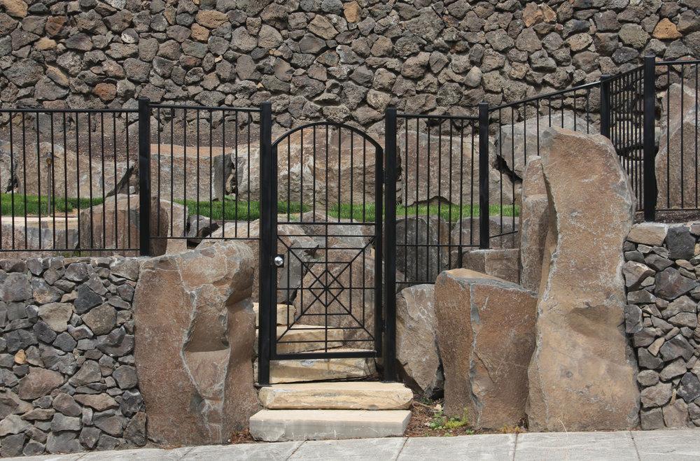 basalt column entryway