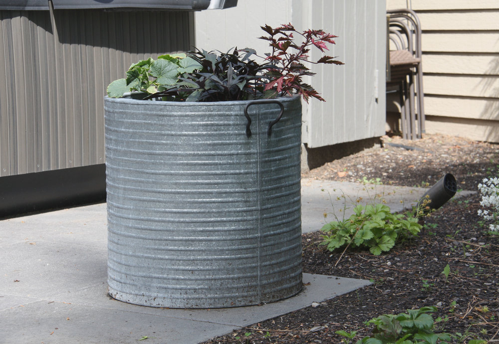 outdoor metal planter