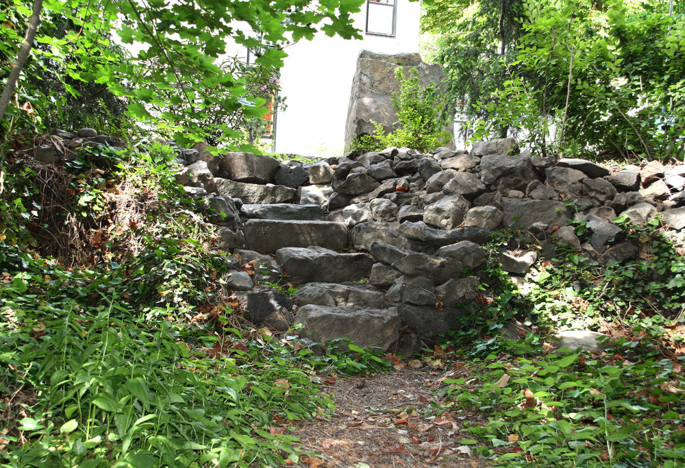 natural boulder stairs