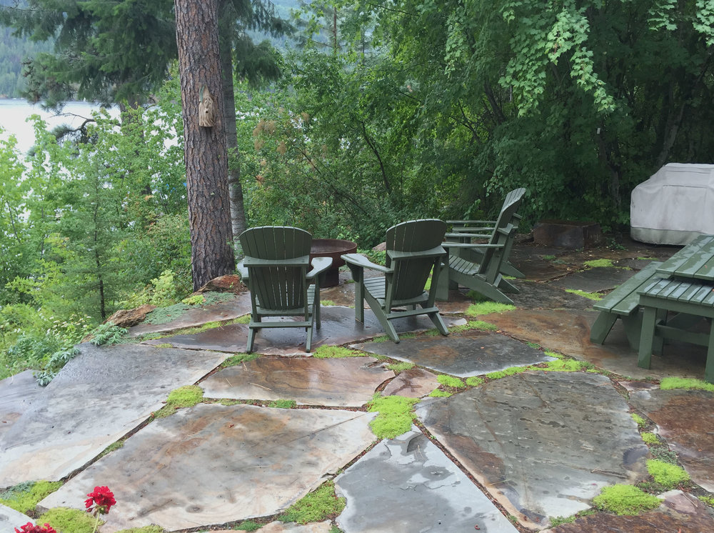 flagstone patio idaho landscaping