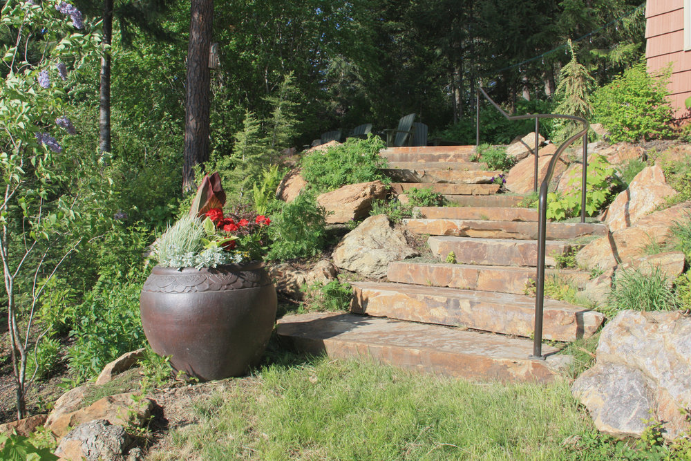 spirit lake stone step landscaping