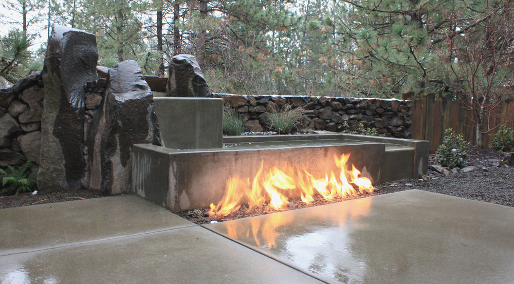 A natural gas fire pit can be a focal point even when you're not enjoying its warmth.