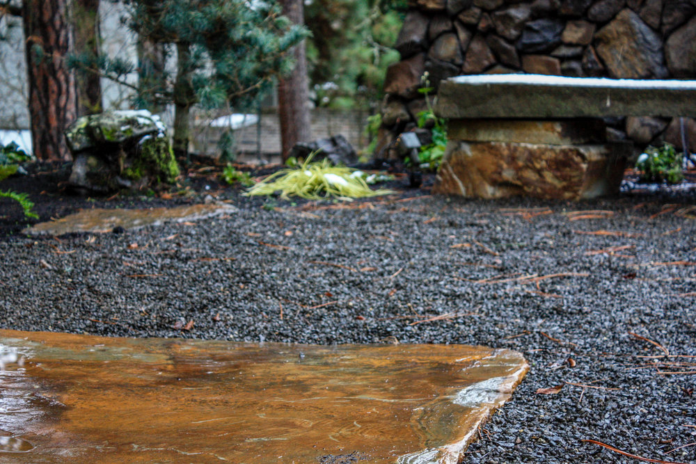 spokane south hill japanese inspired gravel patio