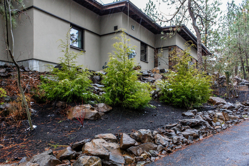 spokane contemporary south hill landscaping