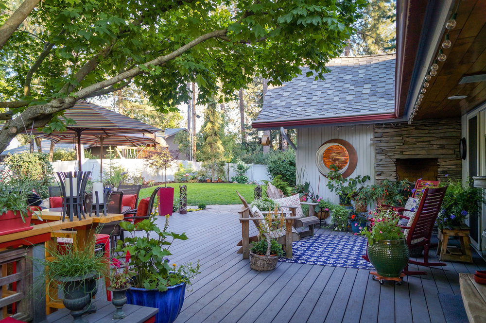 Azek Pvc Deck Of Mid Century Asian Inspired Ranch House