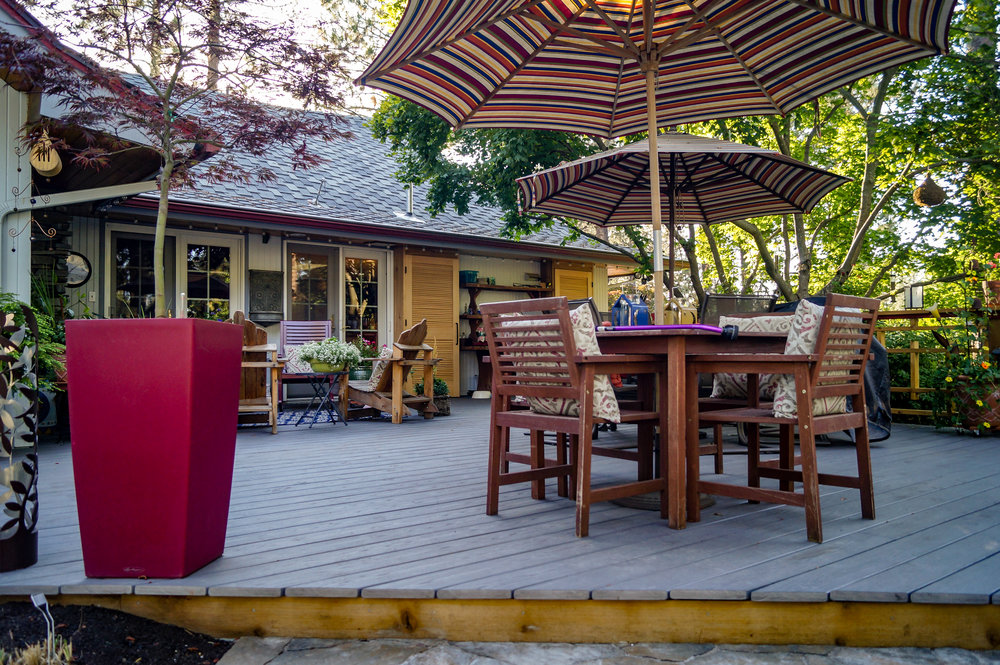 azek pvc decking for mid century ranch landscape in spokane