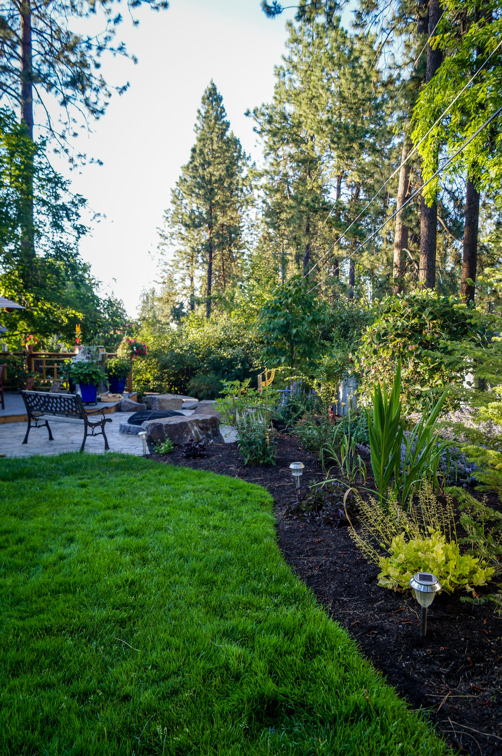 northwest landscaping for spokane south hill house