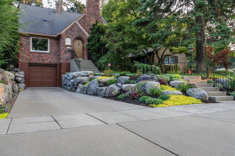 Canon Hill Driveway Spokane Landscaping Pacific Garden Design