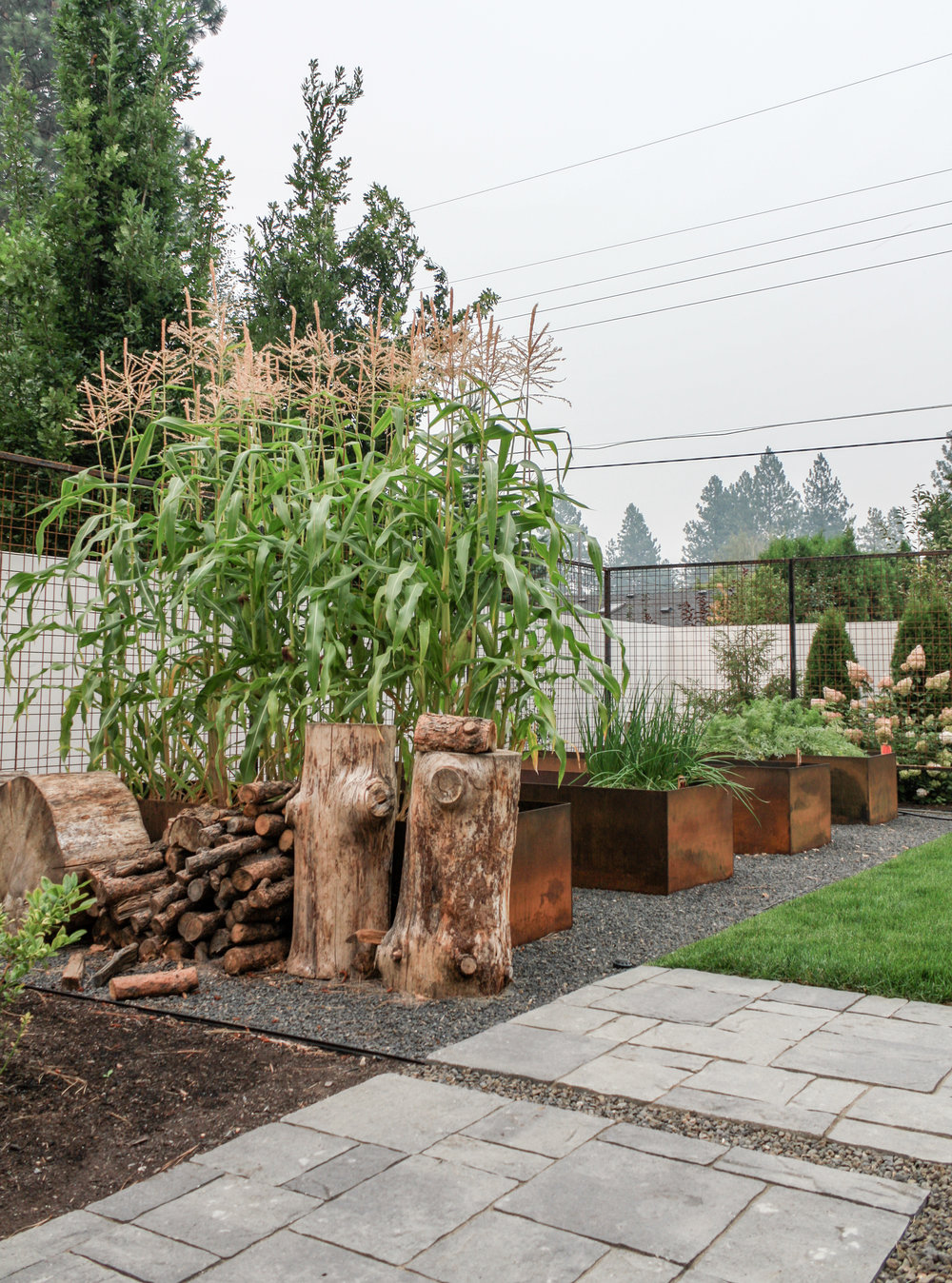 corten steel garden boxes in spokane