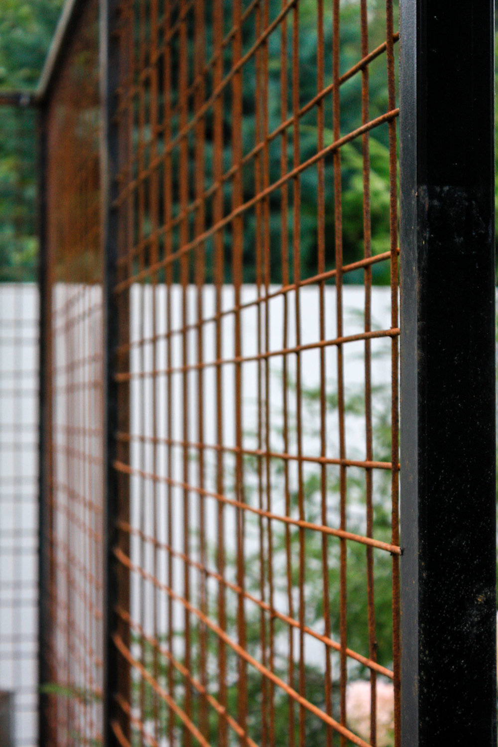decorative rusted metal screen