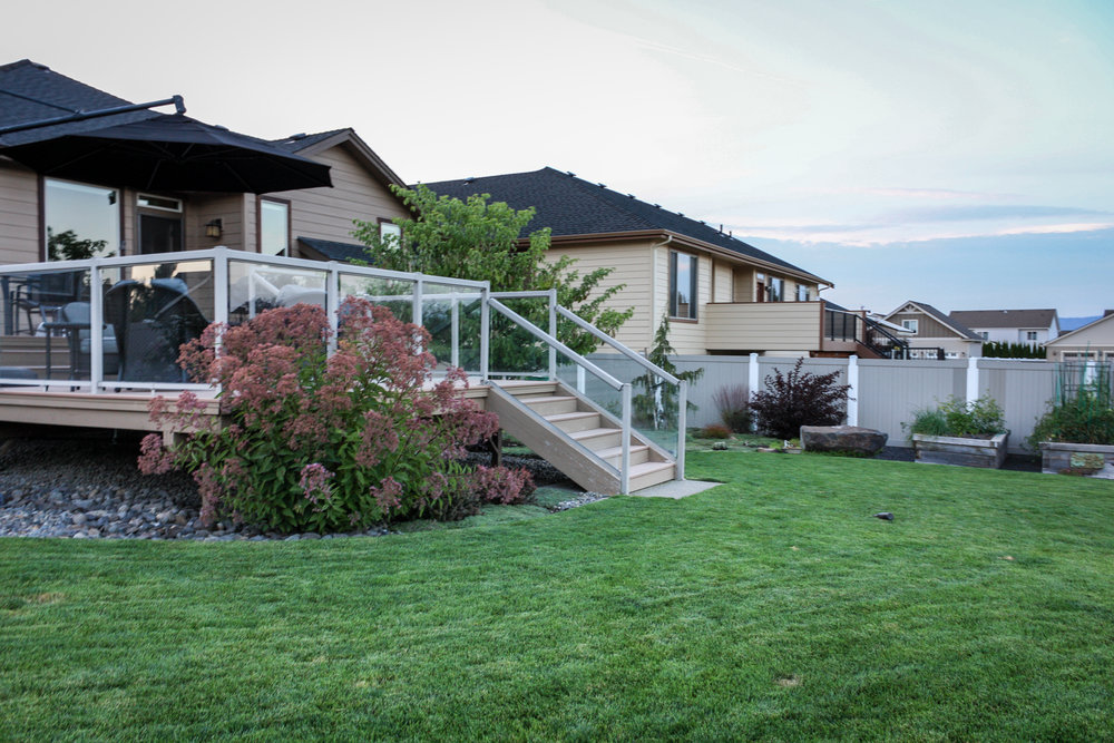 deck and landscaping in spokane valley