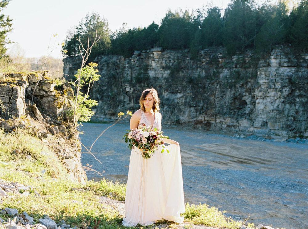 Graystone Quarry bridal shoot