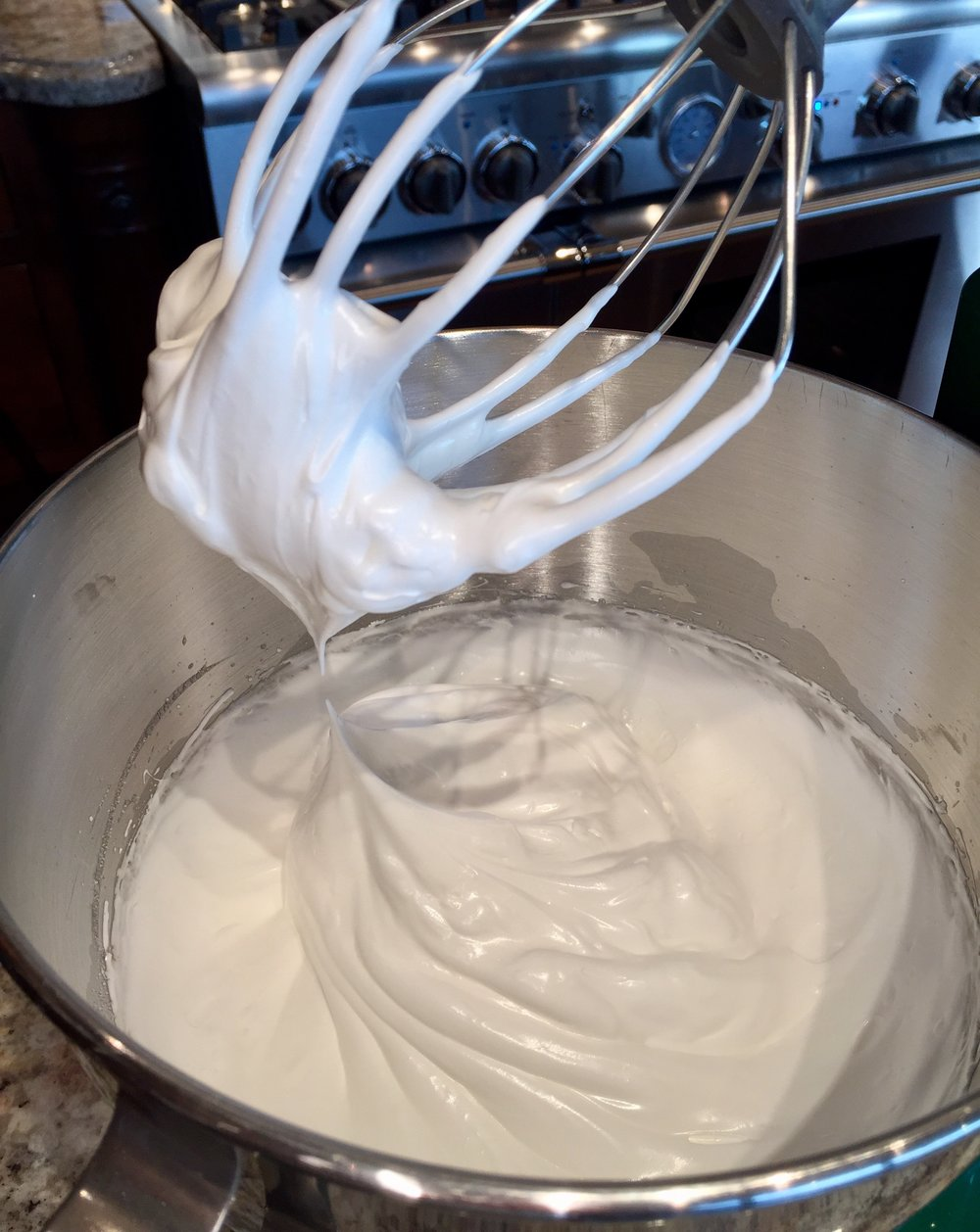 Step 3: Beating the egg whites.