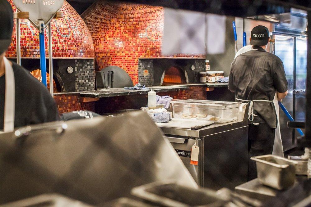 Expert cooks bake pizzas in 1000 degree ovens!