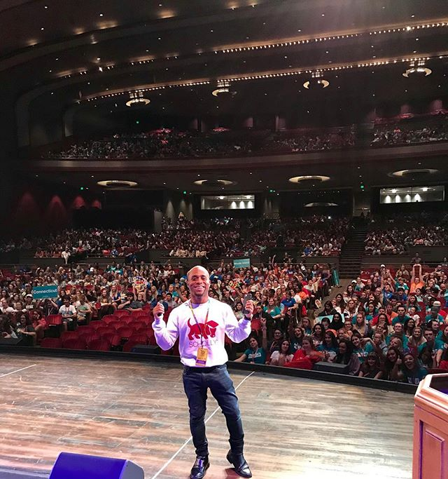 This past weekend our CEO @cjgray91 spoke to over 2300 students at the @bestbuddies annual conference! Best Buddies celebrates and empowers students from across the world who have disabilities to be their best selves! #studentsuccess #scholarships #scholarship #scholly