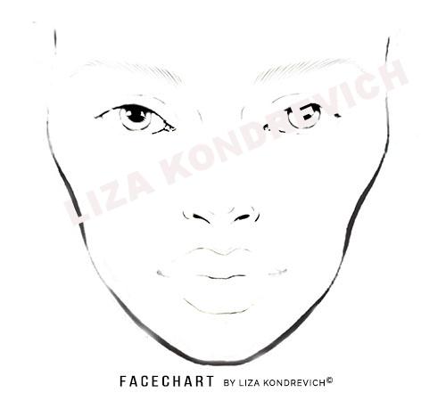 Beliebt FACE CHART, DOWNLOAD FACECHARTS-Liza Kondrevich UT16