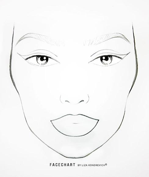 liza kondrevich Simple Face Art basic facechart template 1 klein