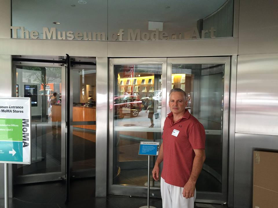 Owner, Ted Howell, Joins his Client at the MOMA