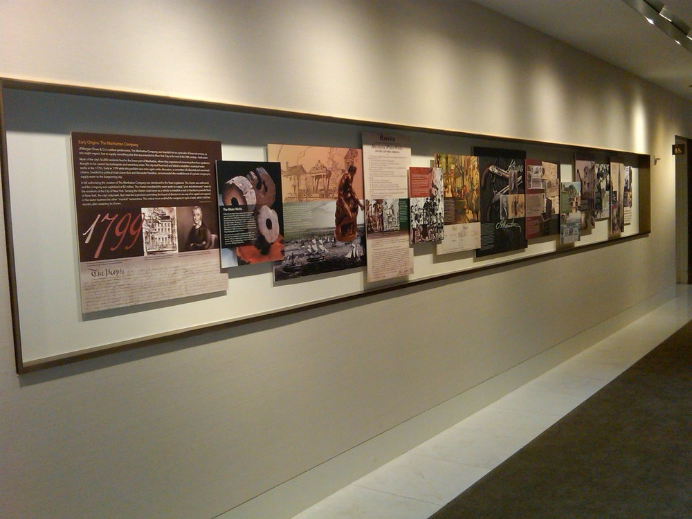 Fabrication and installation: a past corporate panel project by Heritage Frame & Picture Co.
