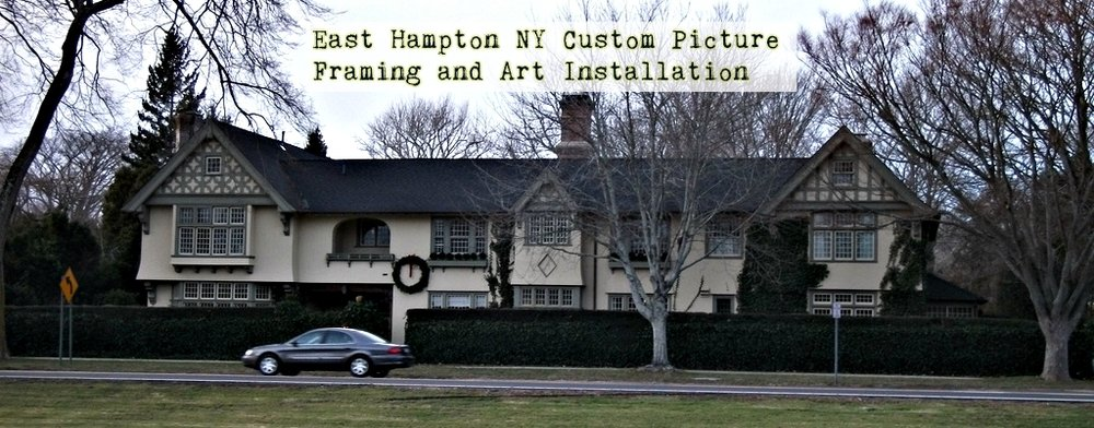 Hampton NY Custom Picture Framing and Art Installation- www.HeritageFrame.com